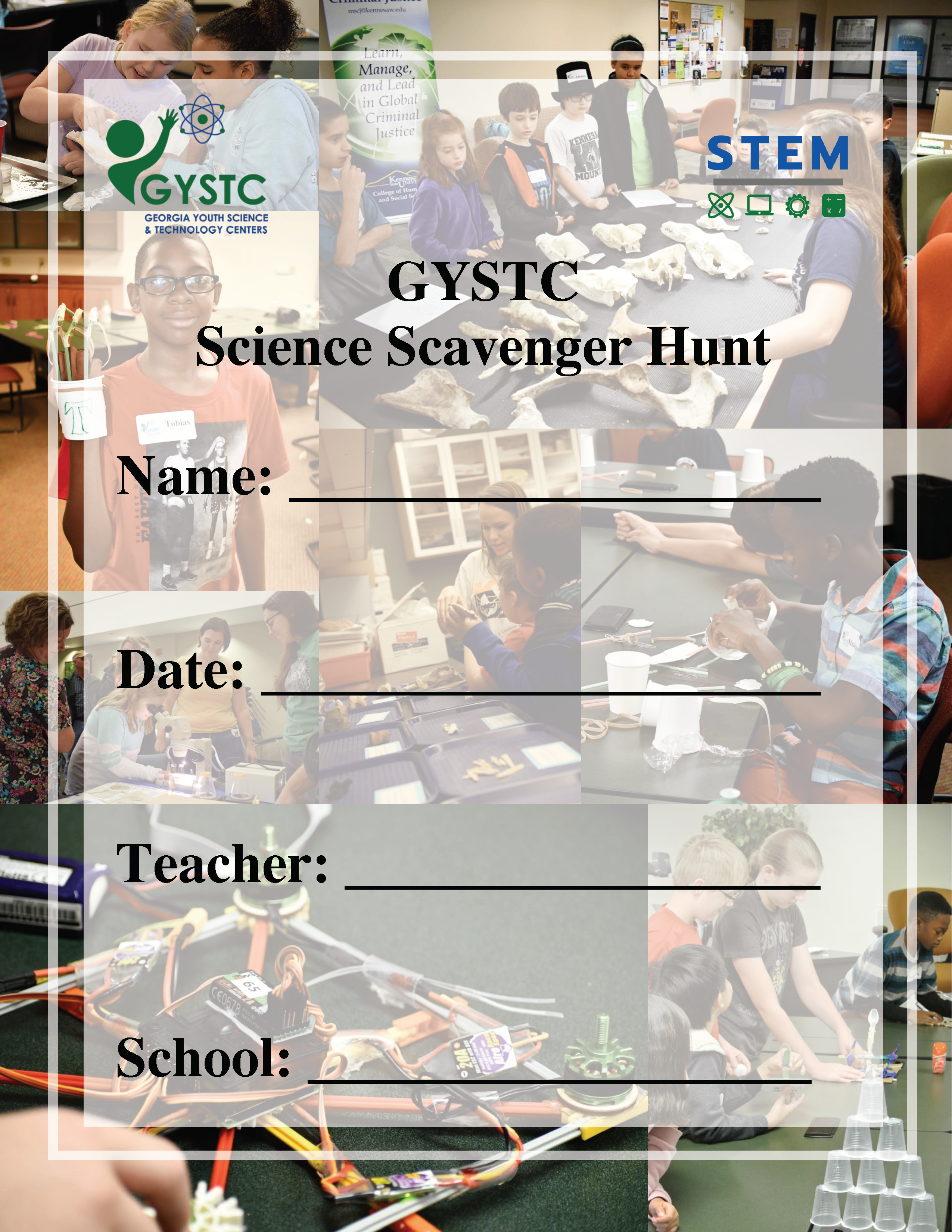 GYSTC Science Scavenger Hunt Cover Page